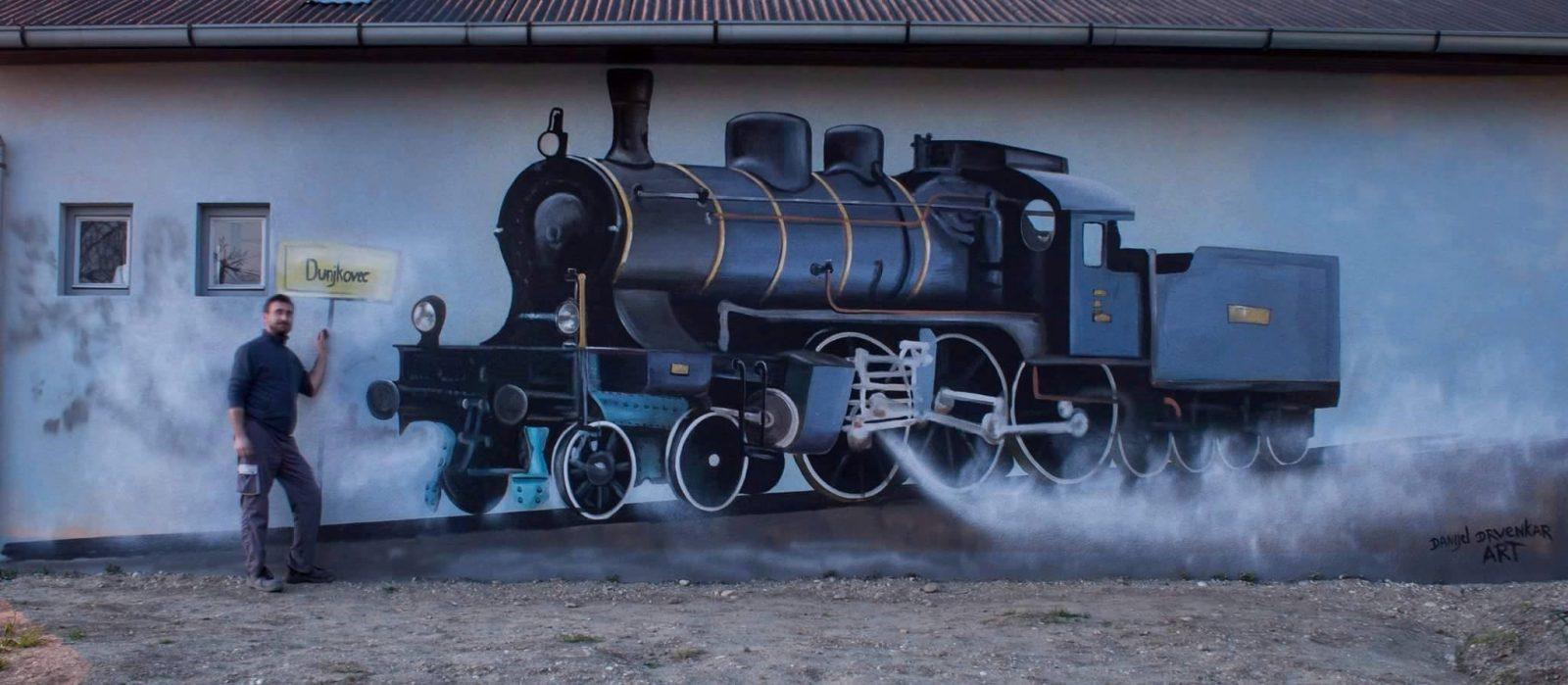 Danijel Drvenkar prva parna lokomotiva Dunjkovec 2