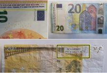lažna novčanica euri