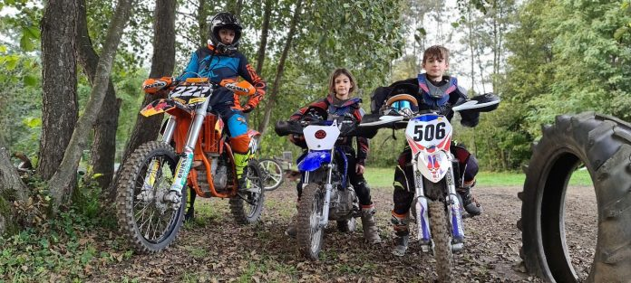 Nena, Edo i Leon Mezga na motocross stazi u Goričanu