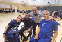 Nino Baša s trenerom Karlom Jamborom te drugo i treće plasiranima Dejanom