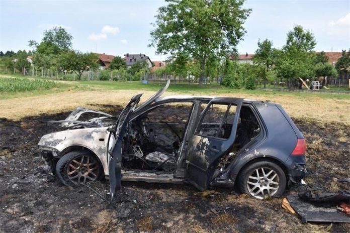 Izgorjelo vozilo