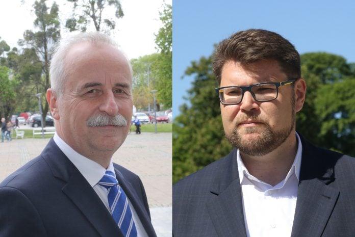 Mladen Novak dosadašnji predsjednik međimurskog SDP-a i Peđa Grbin aktualni predsjednik SDP-a Hrvatske