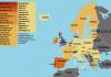 Karta Europe, izvor: Koronavirus.hr, N1