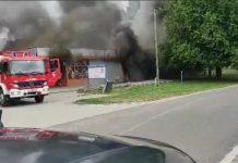 Požar trgovine u Štefancu