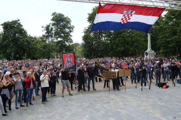 Prosvjed u Čakovcu 1. lipnja 2019. Želim normalan život u Međimurju